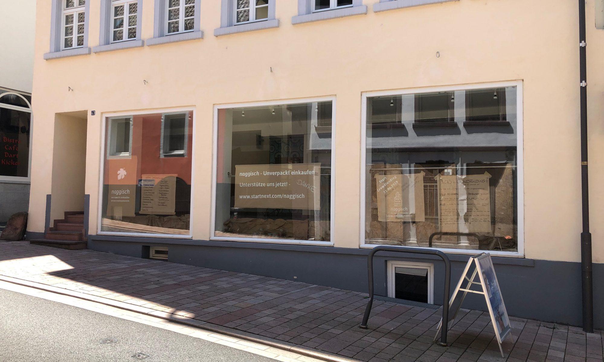 Ladenfront von Naggisch - unverpackt einkaufen in Neckargemünd.